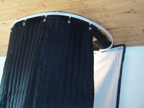Vocal Booth On Tracks 7 Ft Ceiling Track Kit Portable