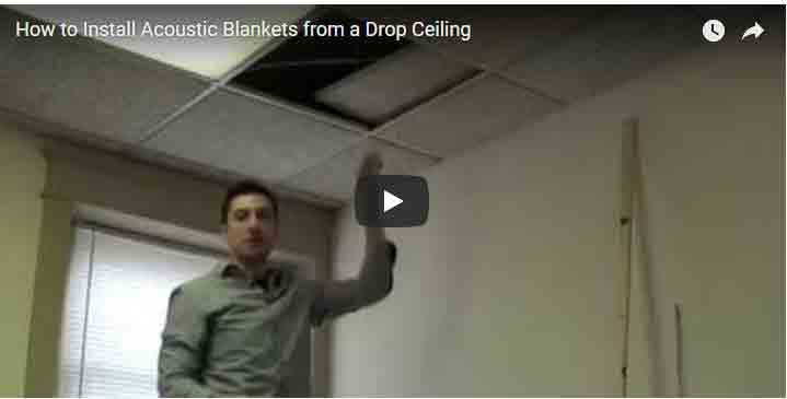 How To Install Acoustic Blankets From A Drop Ceiling