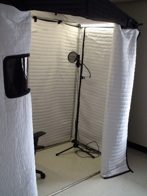 Acoustic Vocal Booth AVB63 open