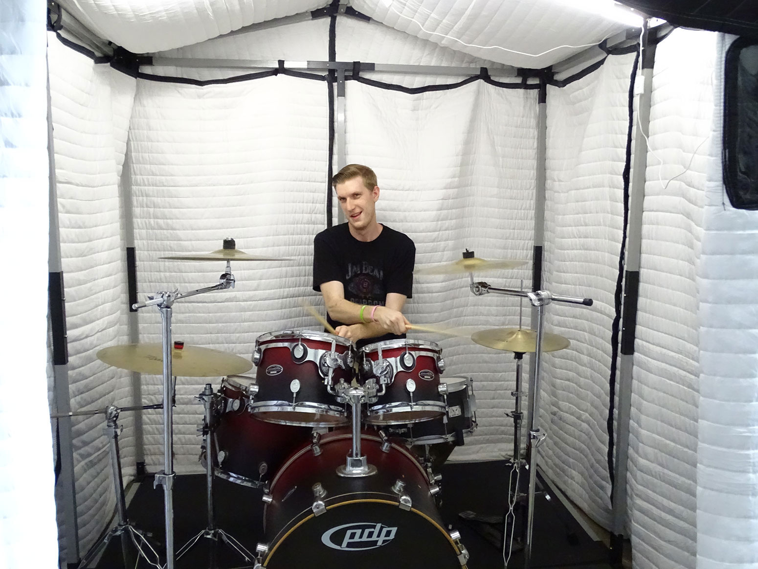 Acoustical Vocal Booth 6 X 6 Mobile Vocal Booth From