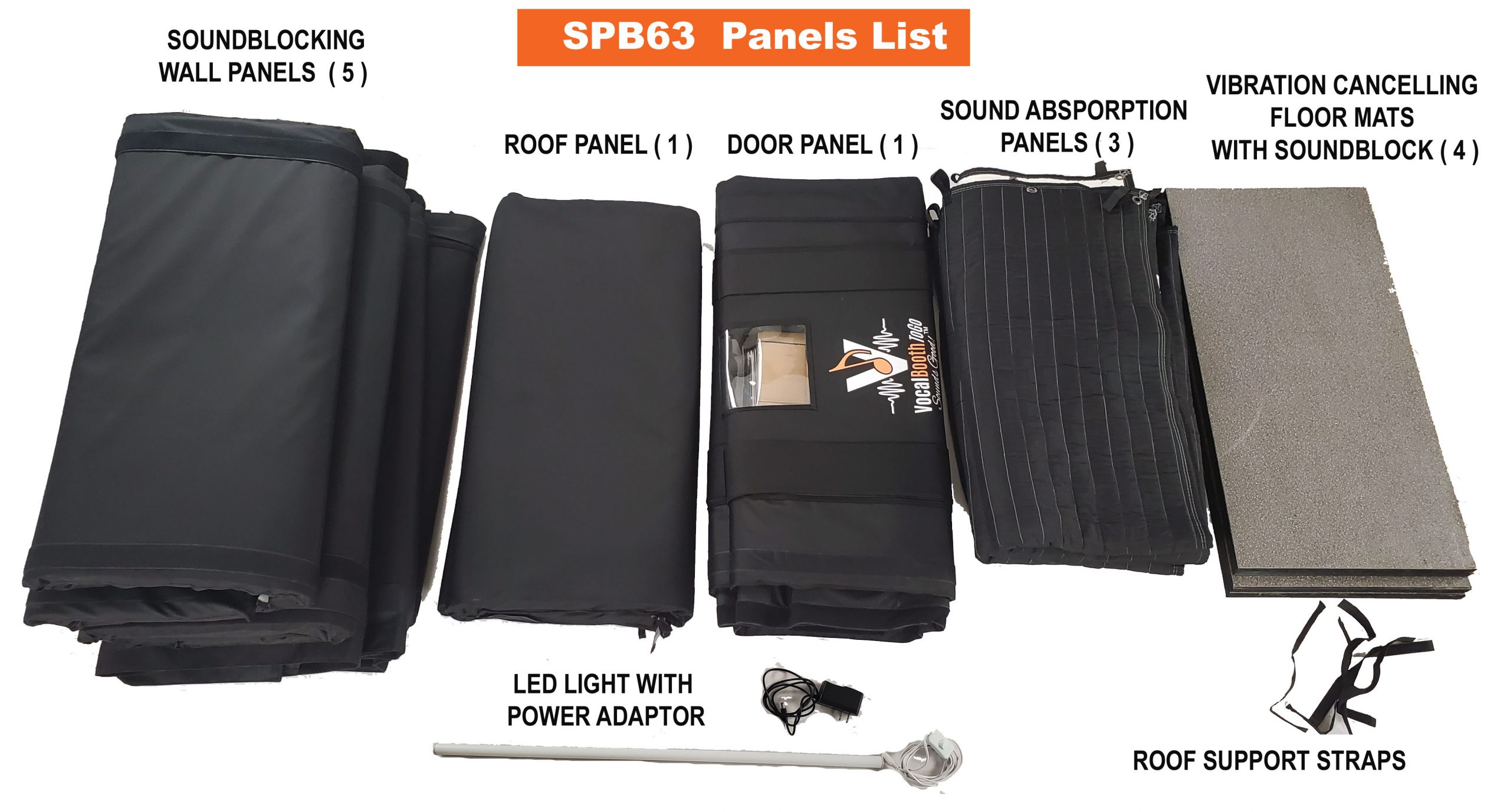 SPB63 parts: panels and light