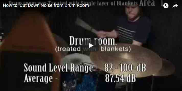 How to Cut Down Noise From A Drum Room With Producer's Choice Acoustic Blankets
