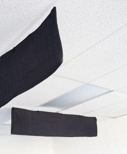 ceiling sound baffle office acoustic treatment