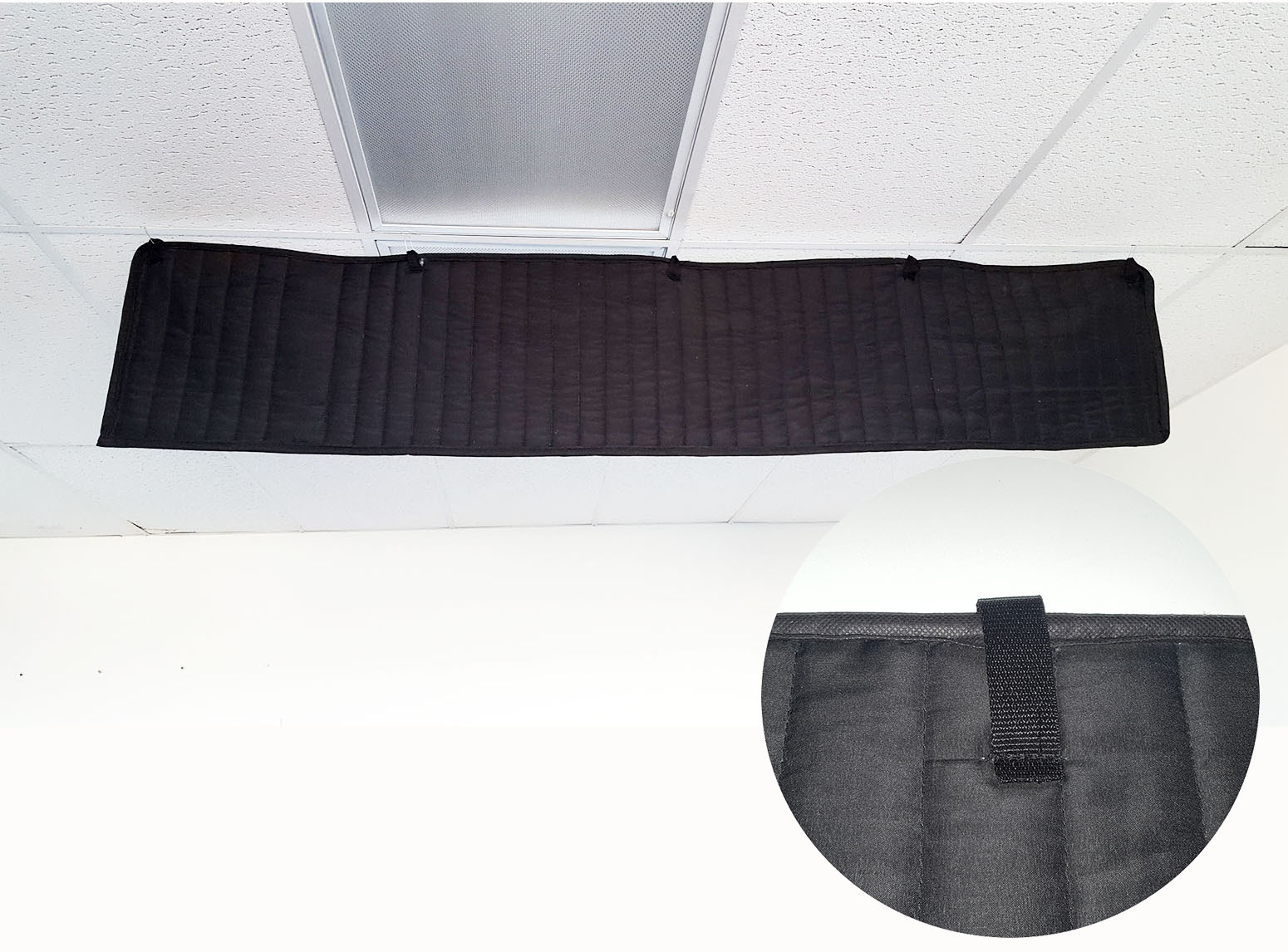 ceiling sound baffle office acoustic treatment-Close up