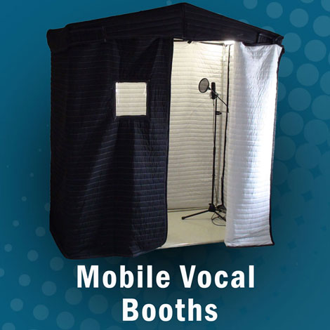Mobile acoustic vocal booth,. Soundproof sound booth for audio recording, music practice, audiometry booth.