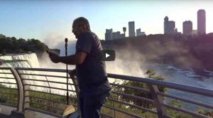 Portable Voice Over recording booth vs. Niagara Falls