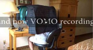 Voice over recording in a hotel room Portable vocal booth – VOMO