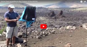 Voice over recording in the Craters of the MOON