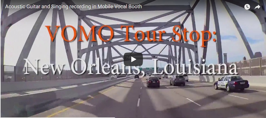 Acoustic Guitar and Singing recording in Mobile Vocal Booth