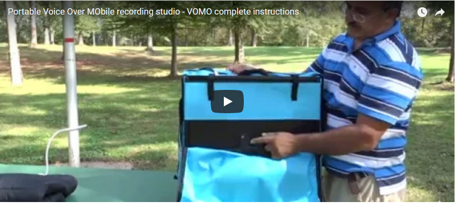 Portable Voice Over MObile recording studio – VOMO complete instructions
