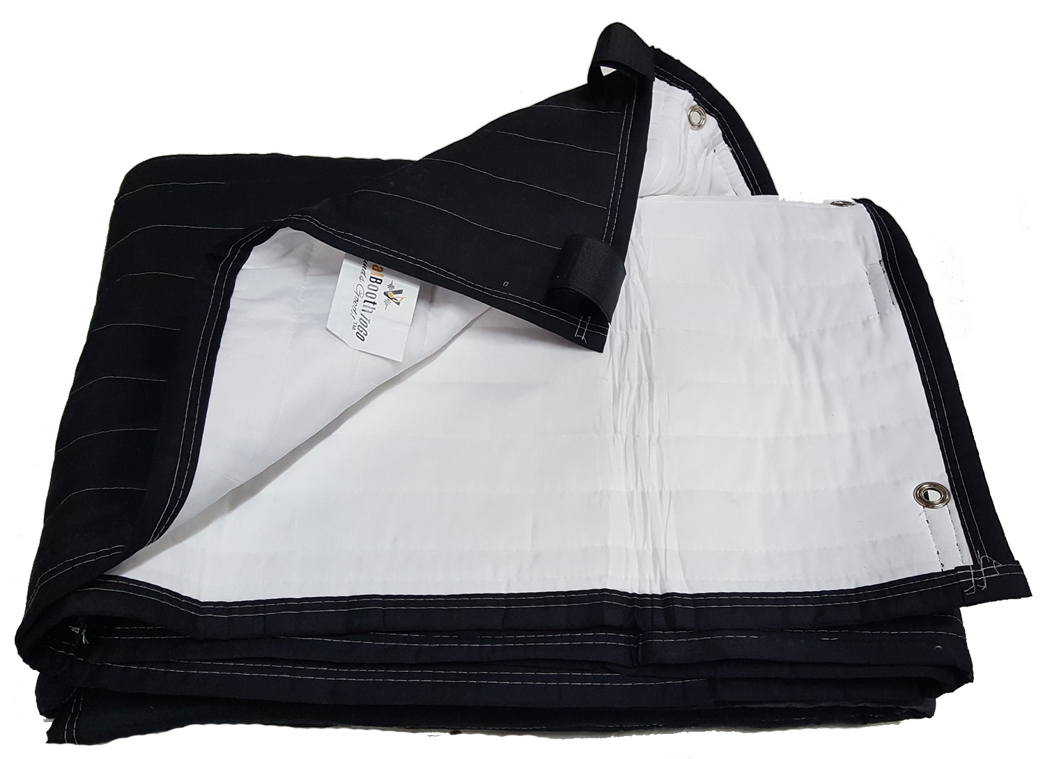 SPB-BG. Sound Booth Blankets Producers Choice- White-Black. Size 80x80 with Grommets and Velcro ...