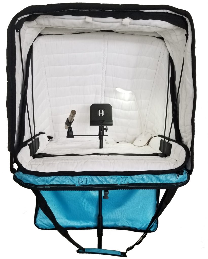 Portable Carry-on Vocal Booth for voice over