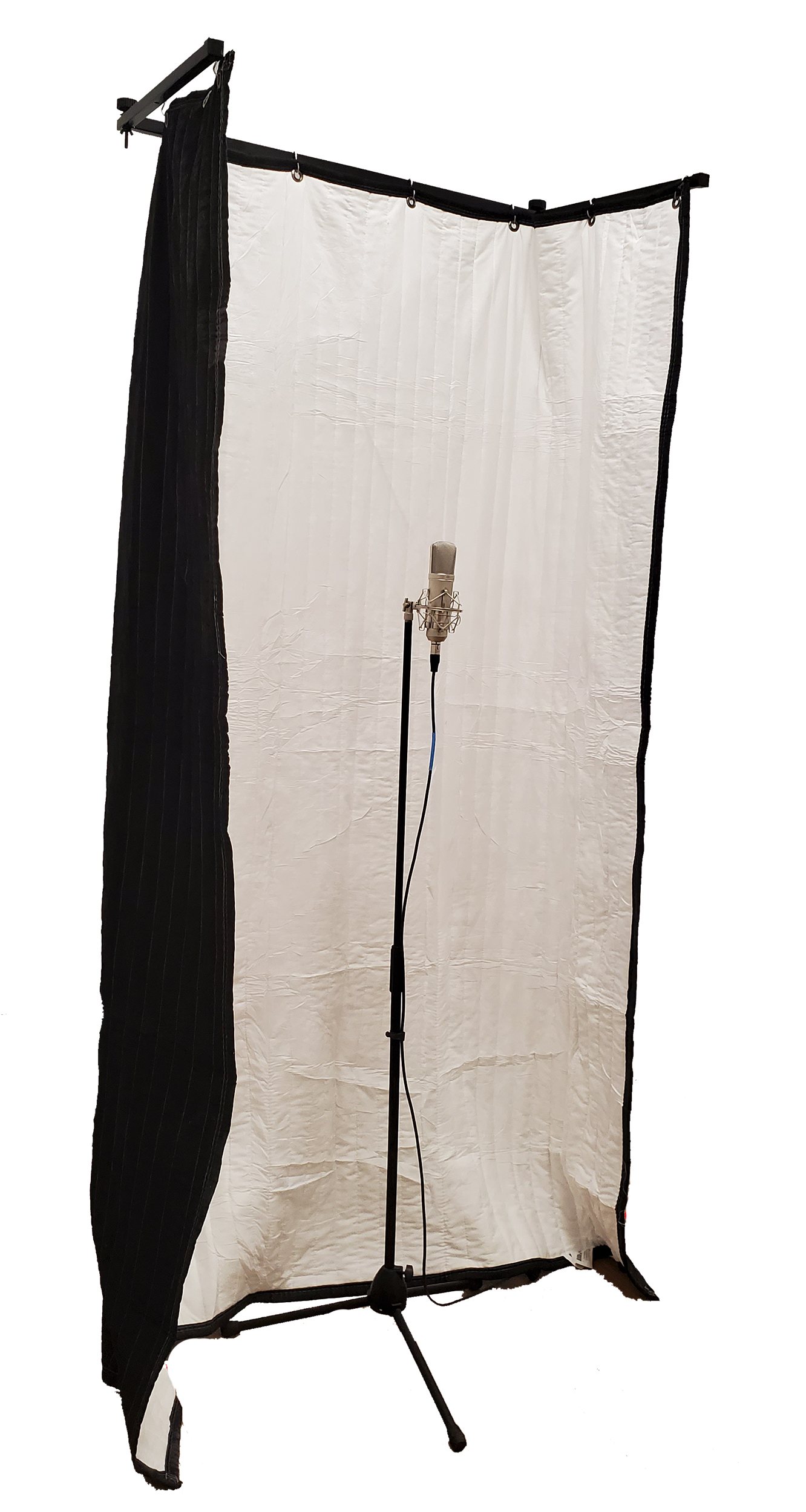 FlexTee Stand for acoustic room treatment with Microphone side