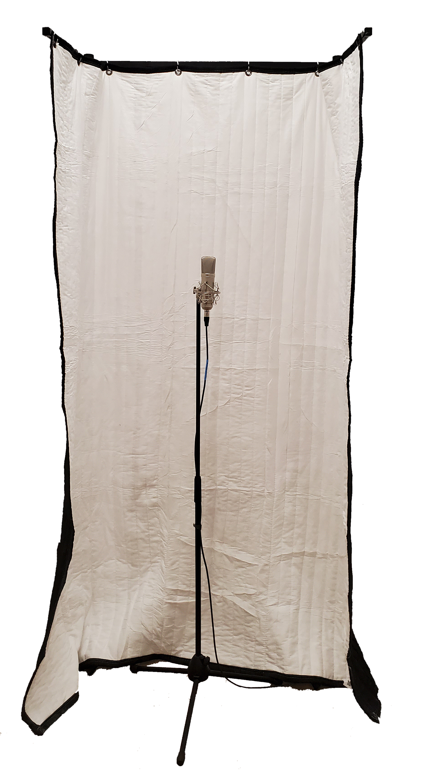 FlexTee Stand for acoustic room treatment with Microphone