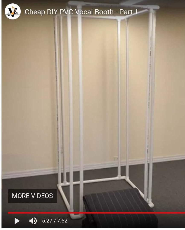 Diy Pvc Vocal Booth Frame Kit Complete Set Just Add Glue
