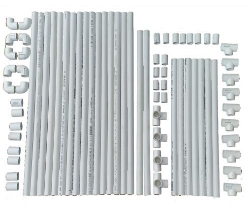 Complete PVC frame set 38x38x80 parts