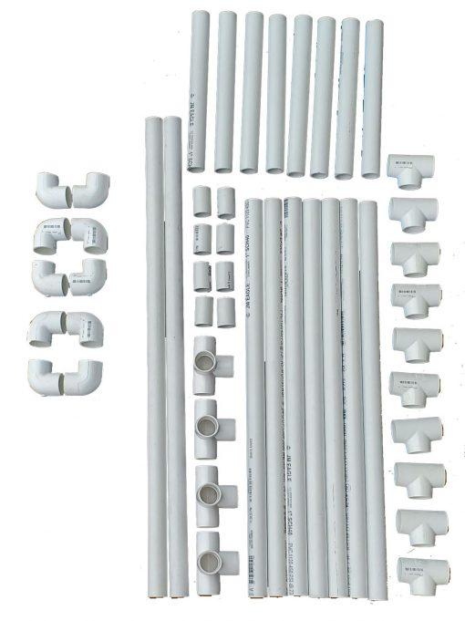 PVC frame parts 38x58