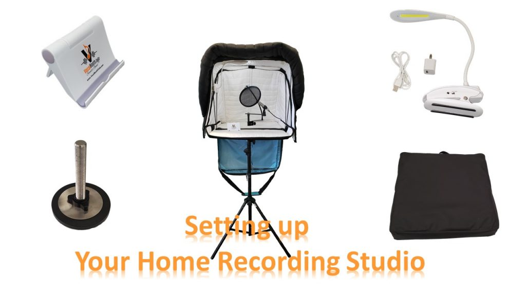 Portable Voice Over Recording Studiom - Set up