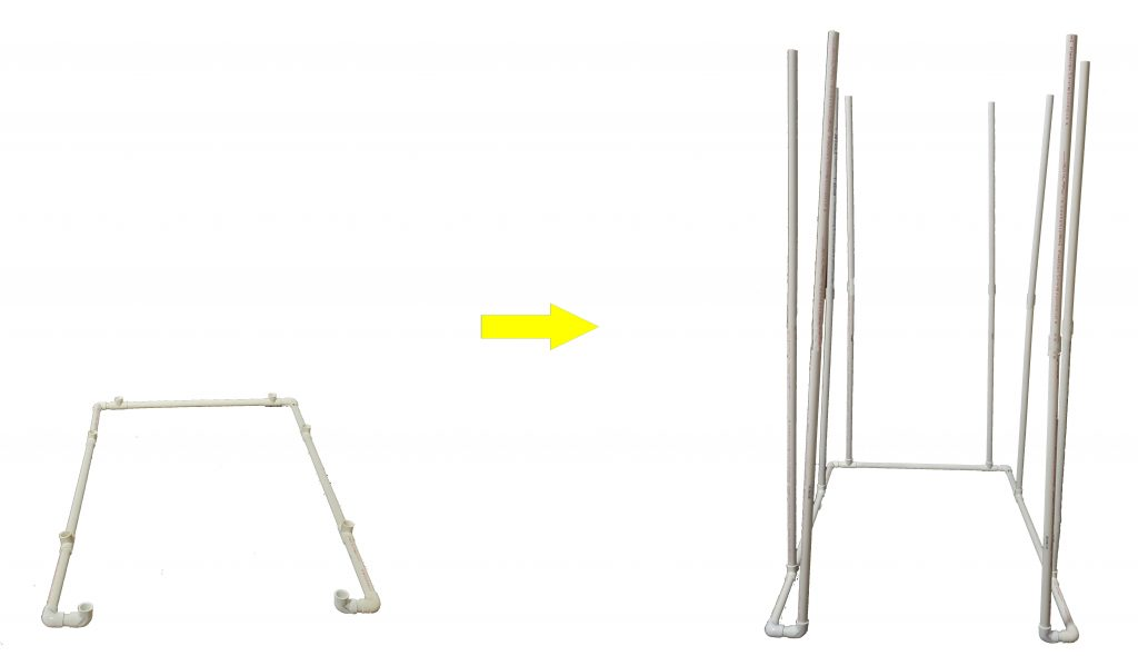DIY - PVC frame Assembling vertical poles