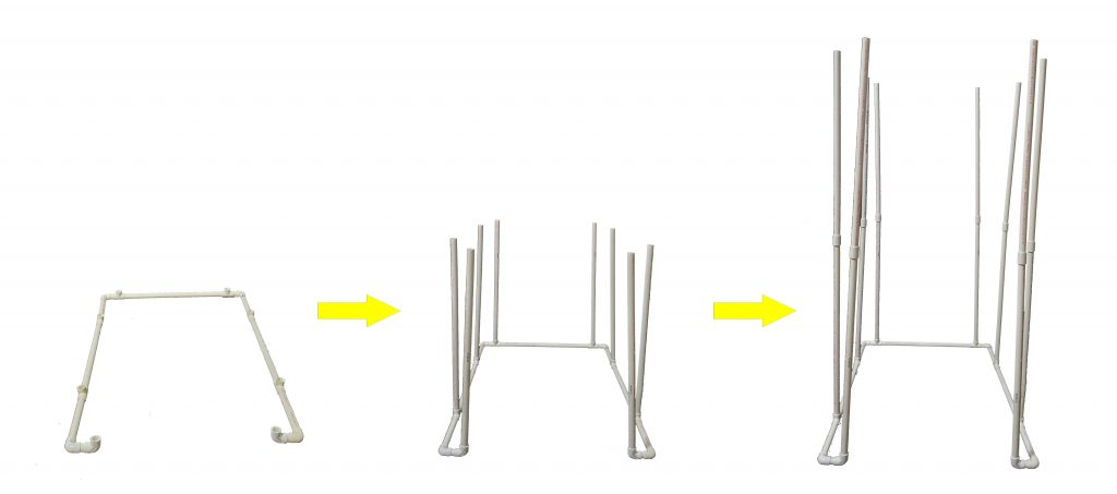 PVC Vocal Booth frame assembly Insert Vertical Poles