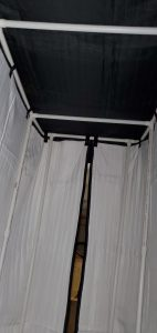 Acoustic Vocal Booth view from Inside ( PVC Frame with cross bars)