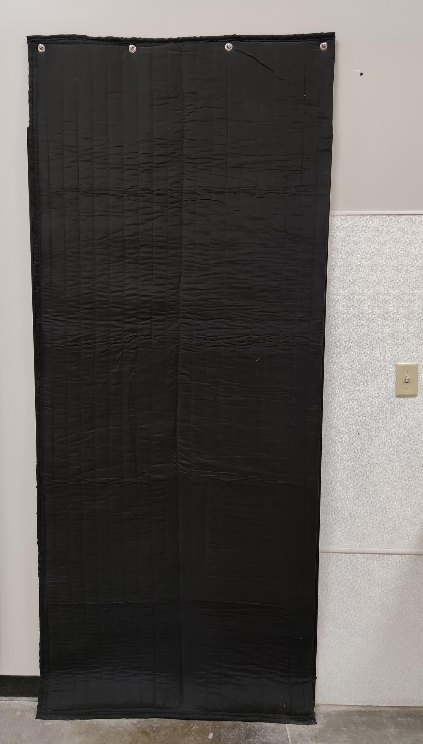 Sound blocking door panel