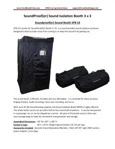 SoundProof(er) Sound Isolation Booth 3 x 3 Soundproof(er) Sound Booth SPB 33