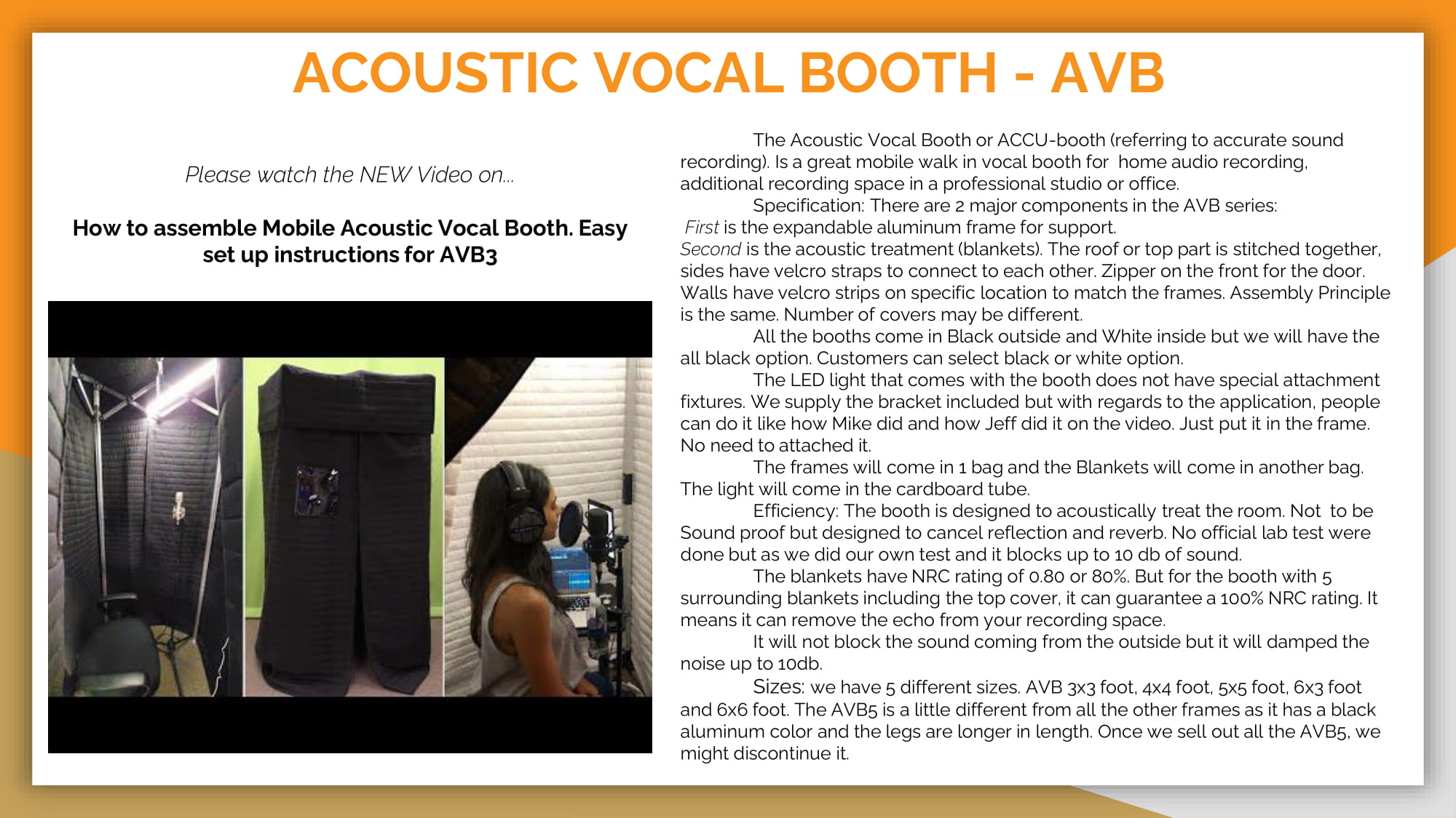ACOUSTIC VOCAL BOOTH - AVB