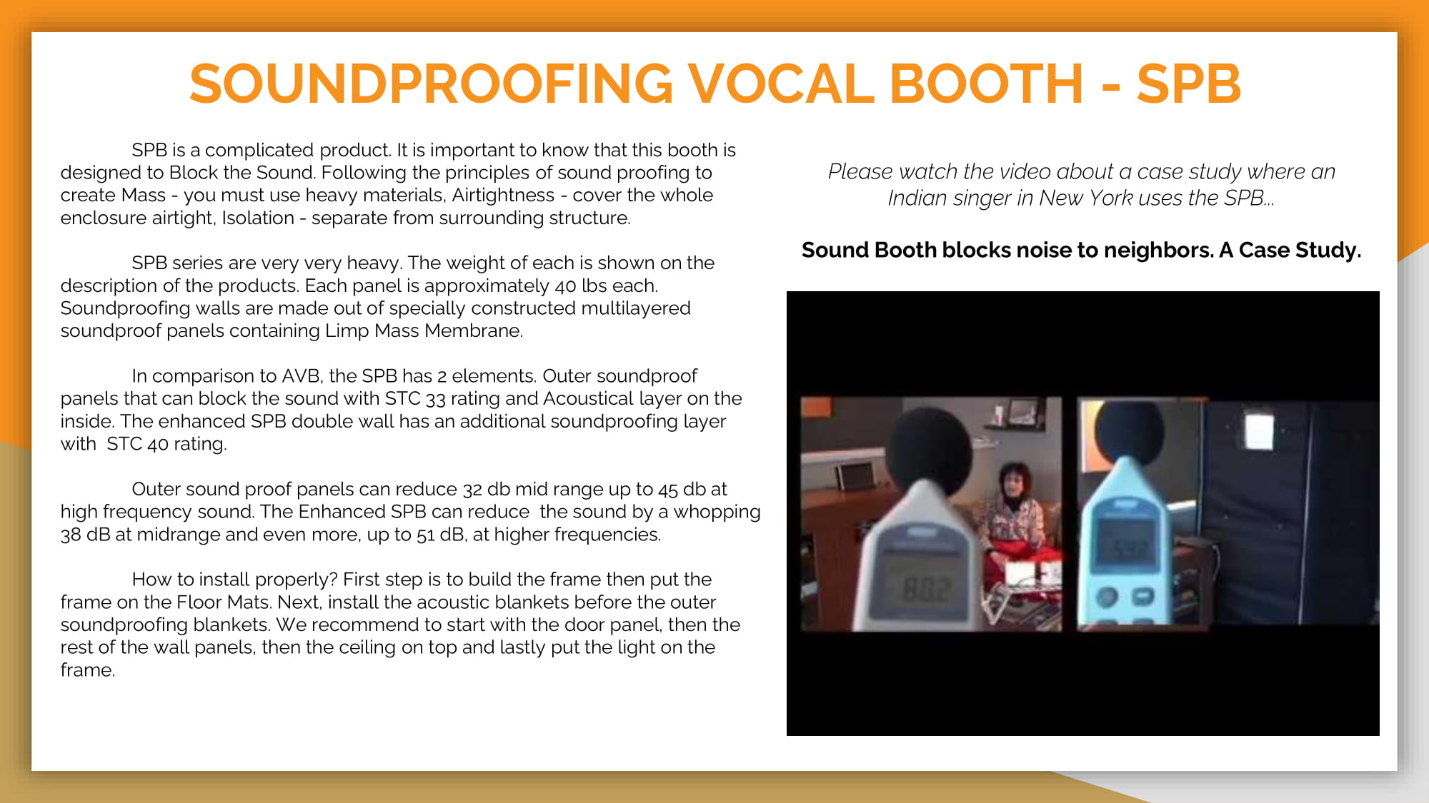 SOUNDPROOFING VOCAL BOOTH -SPB